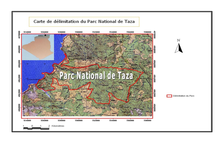 parc national carte delimitation zone limite
